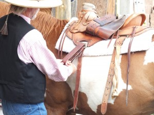 "Farrier/Cinch Maker Lloyd Britton explains helpful pointers for latigo use in the 1st Video Episode of ""For the Equine's Sake"""